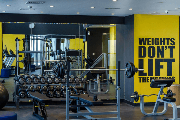 Dubai Football Tournament Hotel gym