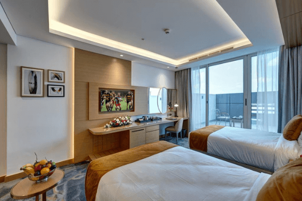 Dubai Football Tournament Hotel twin room