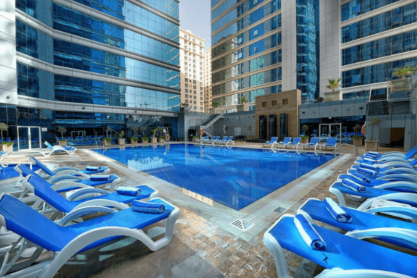 Dubai Football Tournament Hotel pool