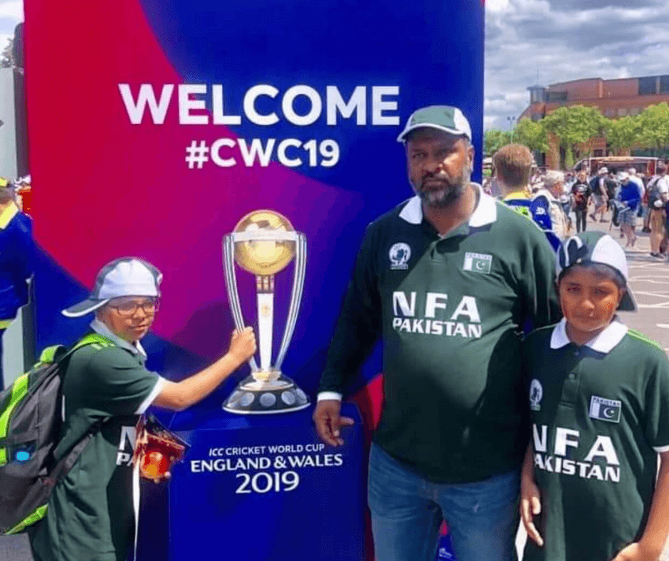 cricket team on sports tour excursion cricket World Cup trophy