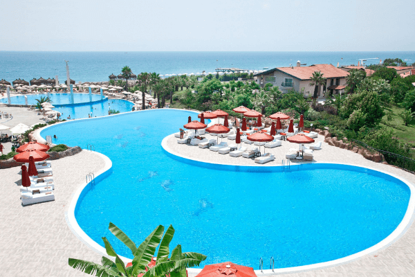 ISG Antalya Cup football tournament hotel pool